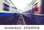 Blurred Train Running  Vintage