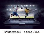 football hottest moments | Shutterstock . vector #652653166