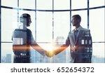 nice to meet you partner .... | Shutterstock . vector #652654372