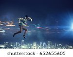 b boy performing some moves .... | Shutterstock . vector #652655605