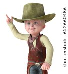 little cowboy fingers up 3d...   Shutterstock . vector #652660486