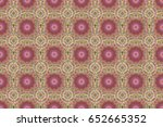 raster damask seamless pattern. ... | Shutterstock . vector #652665352