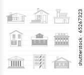 different kind of houses and... | Shutterstock .eps vector #65267323