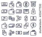 pay icons set. set of 25 pay... | Shutterstock .eps vector #652677532