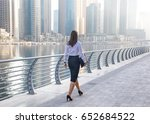 professional business woman in... | Shutterstock . vector #652684522