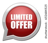 limited offer button | Shutterstock .eps vector #652684525