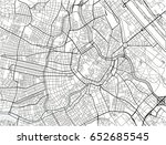 white and black vector city map ... | Shutterstock .eps vector #652685545