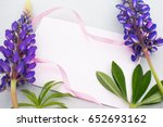 lilac lupine  background with...   Shutterstock . vector #652693162
