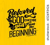 bible lettering. christian art. ... | Shutterstock .eps vector #652693426