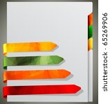 notebook with bookmarks | Shutterstock . vector #65269906