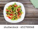 chicken and vegetable summer... | Shutterstock . vector #652700068