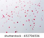 roses card  white floral... | Shutterstock . vector #652706536