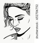 cry girl | Shutterstock .eps vector #652706752
