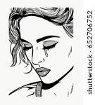 cry girl   Shutterstock .eps vector #652706752