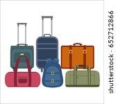 travel bags over white...   Shutterstock .eps vector #652712866
