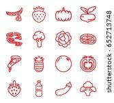 vegetarian icons set. set of 16 ...   Shutterstock .eps vector #652713748
