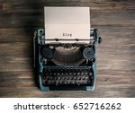 sheet of paper with word blog... | Shutterstock . vector #652716262