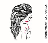 beautiful woman with long  ...   Shutterstock .eps vector #652721065