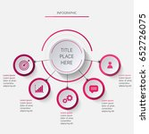 infographics circle with 5... | Shutterstock .eps vector #652726075