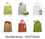 christmas shopping bag | Shutterstock .eps vector #65272624