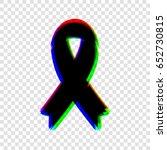 awareness ribbon sign. vector.... | Shutterstock .eps vector #652730815