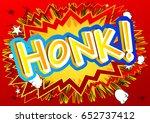 honk    vector illustrated... | Shutterstock .eps vector #652737412