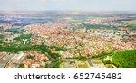 aerial view to pilsen in czech... | Shutterstock . vector #652745482