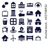home icons set. set of 25 home... | Shutterstock .eps vector #652748932