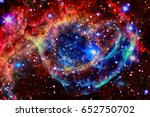 colorful nebula in outer space. ... | Shutterstock . vector #652750702