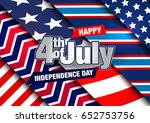 4th of july. independence day... | Shutterstock .eps vector #652753756