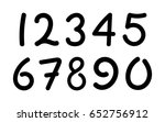 arabic numerals set 1 10. black ... | Shutterstock .eps vector #652756912