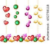 vector gems. endless horizontal ... | Shutterstock .eps vector #652758118
