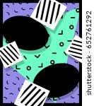 vibrant memphis style banner ... | Shutterstock . vector #652761292
