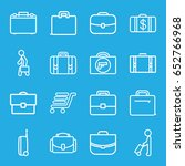 briefcase icons set. set of 16... | Shutterstock .eps vector #652766968