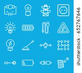 electricity icons set. set of... | Shutterstock .eps vector #652767646