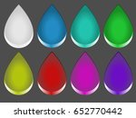 abstract drop button | Shutterstock .eps vector #652770442