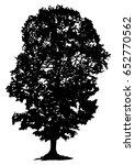 tree silhouette on white... | Shutterstock .eps vector #652770562