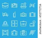 baggage icons set. set of 16... | Shutterstock .eps vector #652772716