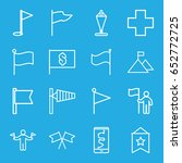 flag icons set. set of 16 flag... | Shutterstock .eps vector #652772725