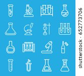 lab icons set. set of 16 lab... | Shutterstock .eps vector #652773706
