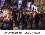prague  cz   december 15  2016  ... | Shutterstock . vector #652777606