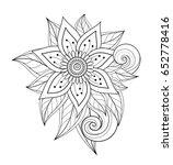 vector beautiful abstract... | Shutterstock .eps vector #652778416