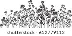 Silhouette Meadow Flowers On...