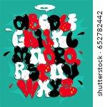 graffiti font vector  | Shutterstock .eps vector #652782442