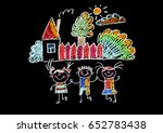 kids drawing happy children... | Shutterstock . vector #652783438