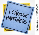 Small photo of I choose happiness positive affirmation - handwriting on an isolated sticky note