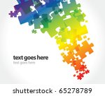 abstract puzzle background   Shutterstock .eps vector #65278789