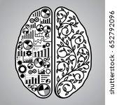 vector illustration of brain... | Shutterstock .eps vector #652792096