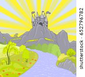 cartoon landscape. vector.... | Shutterstock .eps vector #652796782