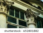 ancient columns with stucco  a... | Shutterstock . vector #652801882